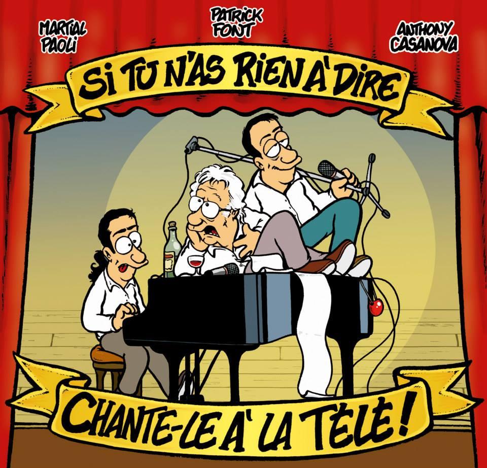 Le CD de Martial Paoli, Patrick Font, Anthony Casanova